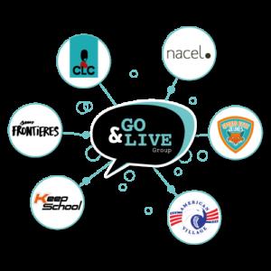 Logo Go&Live entouré de ses marques